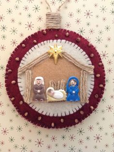 Nacimiento en Gruta / Natividad ornamento del por CraftsbyBeba