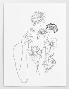 Buy reproductions of minimalist art lines with flowers III from . - Buy reproductions of minimalist art lines with flowers III from Expedition, - Art Drawings Sketches, Sketch Art, Simple Art Drawings, Line Drawings, Minimal Drawings, Modern Drawing, Small Drawings, Colorful Drawings, Tattoo Sketches