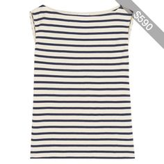 Saint Laurent Striped cotton-jersey tank