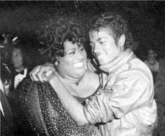 Michael Jackson with Jennifer Holliday at Dream Girls opening Imperial Theatre, Broadway, 1981.