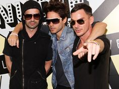 Shannon Leto, Jared Leto, and Tomo Milicevic of 30 Seconds to Mars