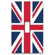 HomePlates Lighting Accessories Union Jack Decorative Light Switchplate Cover - Single Toggle Switch - UJACK-ST