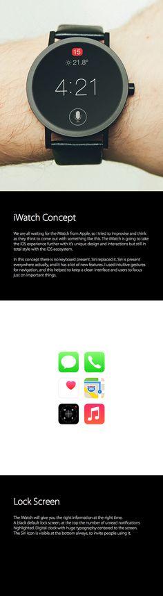 iWatch & Wearable iOS Concept by Luan Gjokaj, via Behance