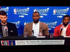 LEBRON JAMES KYRIE IRVING KEVIN LOVE POSTGAME INTERVIEWS 2016 NBA EASTER...