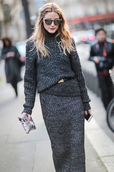 #OliviaPalermo is seen, after the Roland Mouret show, during Paris Fashion Week, Womenswear Fall Winter 2016/2017, on March 6, 2016 in Paris, France.