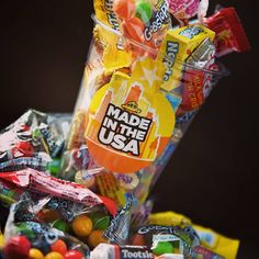 'Murica sweets...sorry, candy! 😋 #candy #sweets #usa #nerds #tootsieroll #gobstoppers #dumdums #laffytaffy #reecescups #hersheys #sweetarts