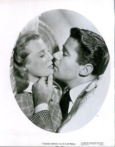 Vintage 1947 Peter Lawford June Allyson Kiss Good News Publicity Still Photo | eBay