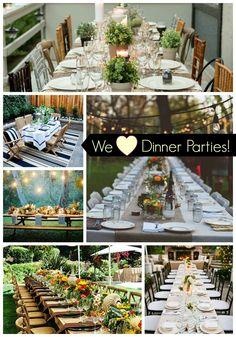 We Heart Dinner Parties! Fabulous dinner party ideas
