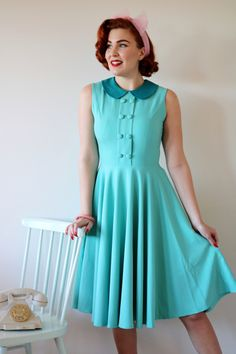 10815447b1c Nice stylish 1950s vintage inspired dress with lovely detail from the Daisy  Dapper own collection.