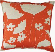 Hable Construction - 20 X 20 Pumpkin Cosmos Wheat Linen Pillow, $175.00 (http://hableconstruction.com/pillows/20-x-20-pumpkin-cosmos-wheat-linen-pillow/)