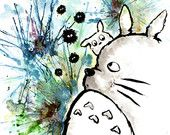 Totoro - Art Print - Illustrated by Jessica Thomas