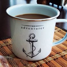 Lilymoose starts her week off right with a little bit of coffee and a whole lot of inspiration! Shop the Anchor the Call Mug: http://www.modcloth.com/shop/tabletop/anchor-the-call-mug