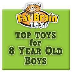 Fat Brain Toys has assembled an exclusive list of toys appropriate for 8 Year Old Boys. Fat Brain Toys is your source for educational toys that will challenge your child's intellect and stretch their imagination. Find over 7,000 toys available for same day shipping.