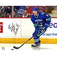 """Brock Boeser Vancouver Canucks Fanatics Authentic Autographed 8"""" x 10"""" Blue Jersey Skating Photograph"""