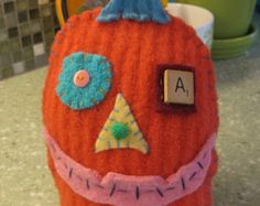 Popular items for wool pumpkin on Etsy