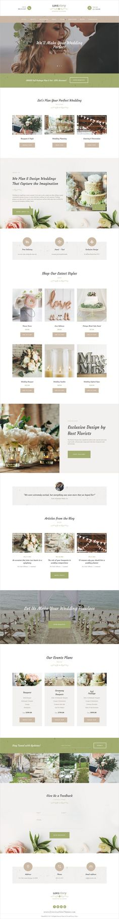 Love story is an elegant responsive #WordPress theme for #wedding invitation, wedding #planner or planning agencies website with a fashionable and tender look download now➩ https://themeforest.net/item/love-story-wedding-and-event-planner-site-template/19766609?ref=Datasata