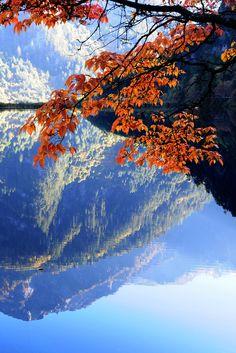 Mirror Lake, Jiuzhaigou National Park ~ Sichuan Province, China
