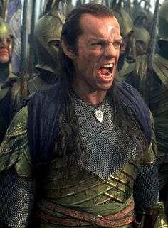 Elrond - Lord of the Rings... Am I the only one sitting here seeing the Hydra from Captain America??