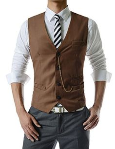 TheLees (GVE) Mens Business Slim Fit Chain Point 4 Button Vest Waist Coat Brown X-Large(US Medium) TheLees http://www.amazon.com/dp/B00CTPXQ1Y/ref=cm_sw_r_pi_dp_cCPXvb1C3WPFK