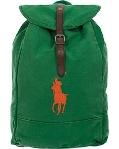Polo Ralph Lauren Backpack  Bermuda Green  i gruppen Vesker / Skuldervesker hos Care of Carl (11910410)