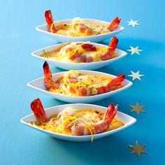 Découvrez la recette Petits gratins de gambas au curcuma sur cuisineactuelle.fr.