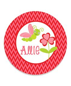 Look at this Pink Butterfly Personalized Plate by Print the Party Color Me Mine, Personalized Plates, Pink Butterfly, Create, Party, Parties