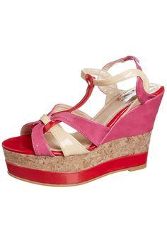 China Girl - POVEDA - Sandaletter med kilklack - Ljusrosa
