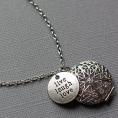 Inspirational Words Diffuser Necklace, Essential Oil Necklace, Aromatherapy, Diffuser Jewelry, Diffuser Locket, Oil Locket, Gift for Her