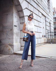 "87.1k Likes, 449 Comments - Camila Coelho (@camilacoelho) on Instagram: ""Lace and pantacurt kinda Sunday! ------- Renda e pantacurt jeans, foi o combo lindo de hoje! Usando…"""