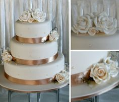 Wedding Cake with ivory icing by Classic Cakes