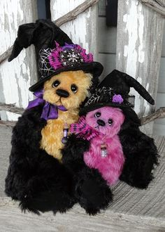 Hager Bears by Donna Hager: Boo and Lil Boo OctoBEARfest Show Piece