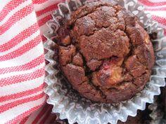 Paleo Strawberry Banana Chocolate Chip Muffins