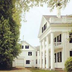 The house certainly is beautiful but I really love that garage! Maine Home, L.L. Bean