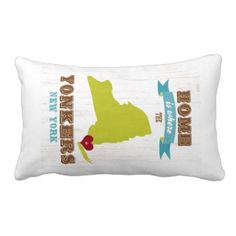 Yonkers, New York - Home is Where. Throw Pillow