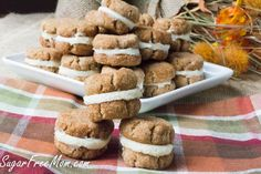 Snickerdoodle Crème Cookies - Keto Christmas Cookies - Best Keto Xmas Cookies to Try this Year! Can you survive through the holiday season while staying in Ketosis? This collection of amazing Keto Christmas Cookies will be your salvation! Sugar Free Desserts, Sugar Free Recipes, Low Carb Recipes, Dessert Recipes, Keto Desserts, Paleo Recipes, Banting Recipes, Keto Snacks, Low Carb Deserts