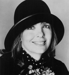 """Another quirky Calif girl who loves the elderly and guys with """"huge Roman noses."""" I thought it was just me. Kindred souls. ♥ Adorable hat on adorable Diane."""