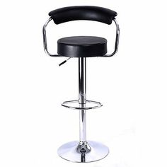 Set Of 2 Leather Adjustable Counter Swivel Bar Stools Pub Style Barstools Chairs