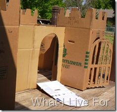 Make Cardboard Castles (out of refriderator boxes--they give them away free at furniture stores!)