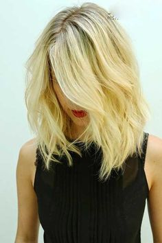 Really modern medium long hairstyles - Fashionre