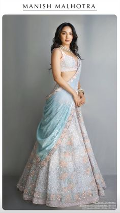 Bridal Lehenga Colour Palettes and What They Represent Indian Wedding Gowns, Party Wear Indian Dresses, Indian Gowns Dresses, Indian Bridal Outfits, Indian Fashion Dresses, Dress Indian Style, Indian Designer Outfits, Indian Lehenga, Indian Ethnic Wear