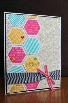 Hexagon Love!!! Six-Sided Sampler card with plenty of BLING! Jeanna Bohanon 2012 Stampin' Up! Artisan Design Team