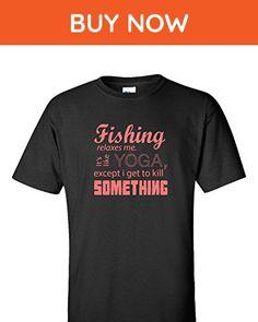 Fishing Fish - Adult Shirt L Black - Animal shirts (*Amazon Partner-Link)