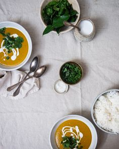 red curry kabocha soup - Two Red Bowls Thai Princess, Kitchen Aid Appliances, Pumpkin Curry, Red Bowl, Red Curry Paste, Kaffir Lime, Canned Coconut Milk, Gluten Free Chicken, Kitchenaid