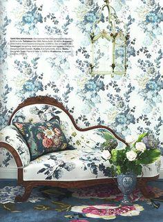 Designers Guild Seraphina wallpaper as seen in Hem & Antik, Sweden