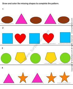 pattern match worksheet32 math worksheets kindergarten worksheets - Pattern Worksheets Kindergarten Printable