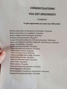 Congratulations! You are grounded.