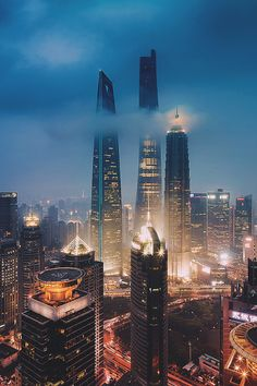 Shanghai skyscrappers at night Urban Photography, Landscape Photography, Places Around The World, Around The Worlds, City Wallpaper, Snoopy Wallpaper, Jimin Wallpaper, Couple Wallpaper, Kawaii Wallpaper