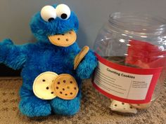 The Counting Cookies activity builds vocabulary and early math skills. You can have as many or as few cookies as you want. Count the chocolate chips and the number of cookies in the jar.