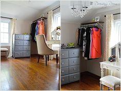 12 Awesome and Unique DIY Corner Closet Ideas Master Closet, Closet Bedroom, Closet Space, Metal Clothes Rack, Corner Closet, Closet Ideas, Clever Diy, Home Projects, Diy Furniture