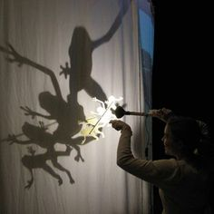 shadow puppets, South Africa (Art form and Entertainment, but leading more towards art! Shadow Art, Shadow Play, Long Shadow, Light And Shadow, Frame By Frame Animation, Toy Theatre, Puppet Show, New Media Art, Africa Art